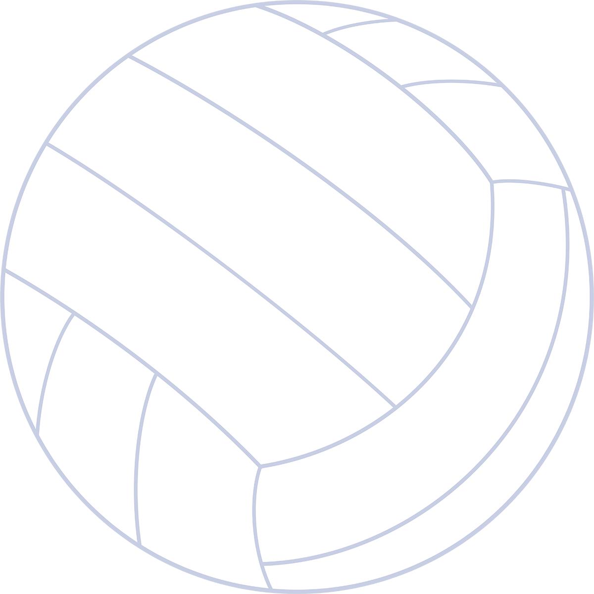 バレーボールの無料イラスト