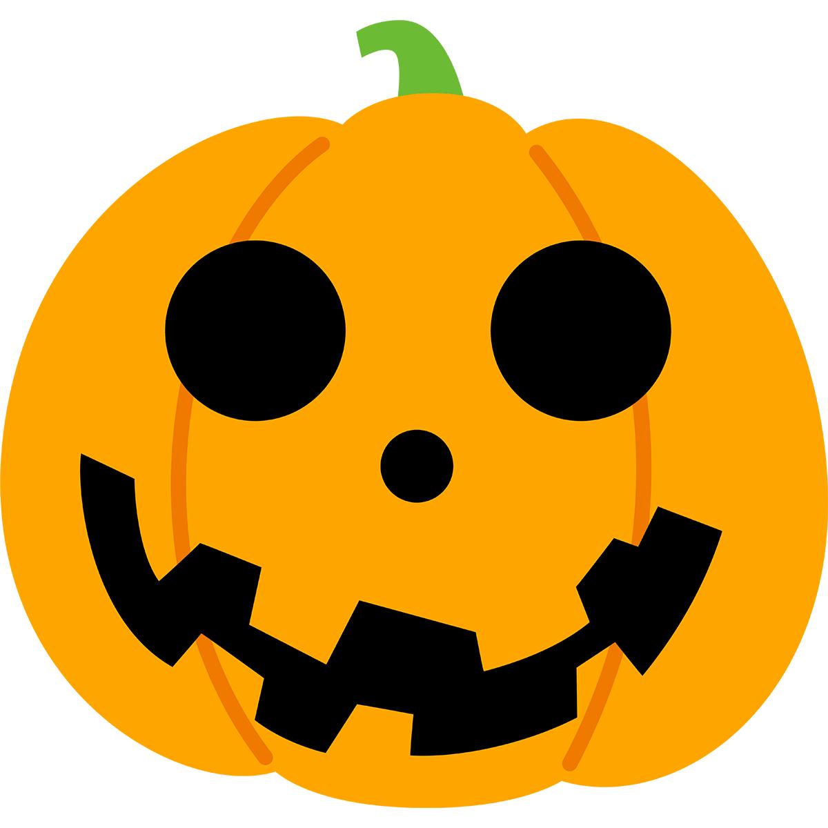 ハロウィンかぼちゃ(丸型)の無料イラスト
