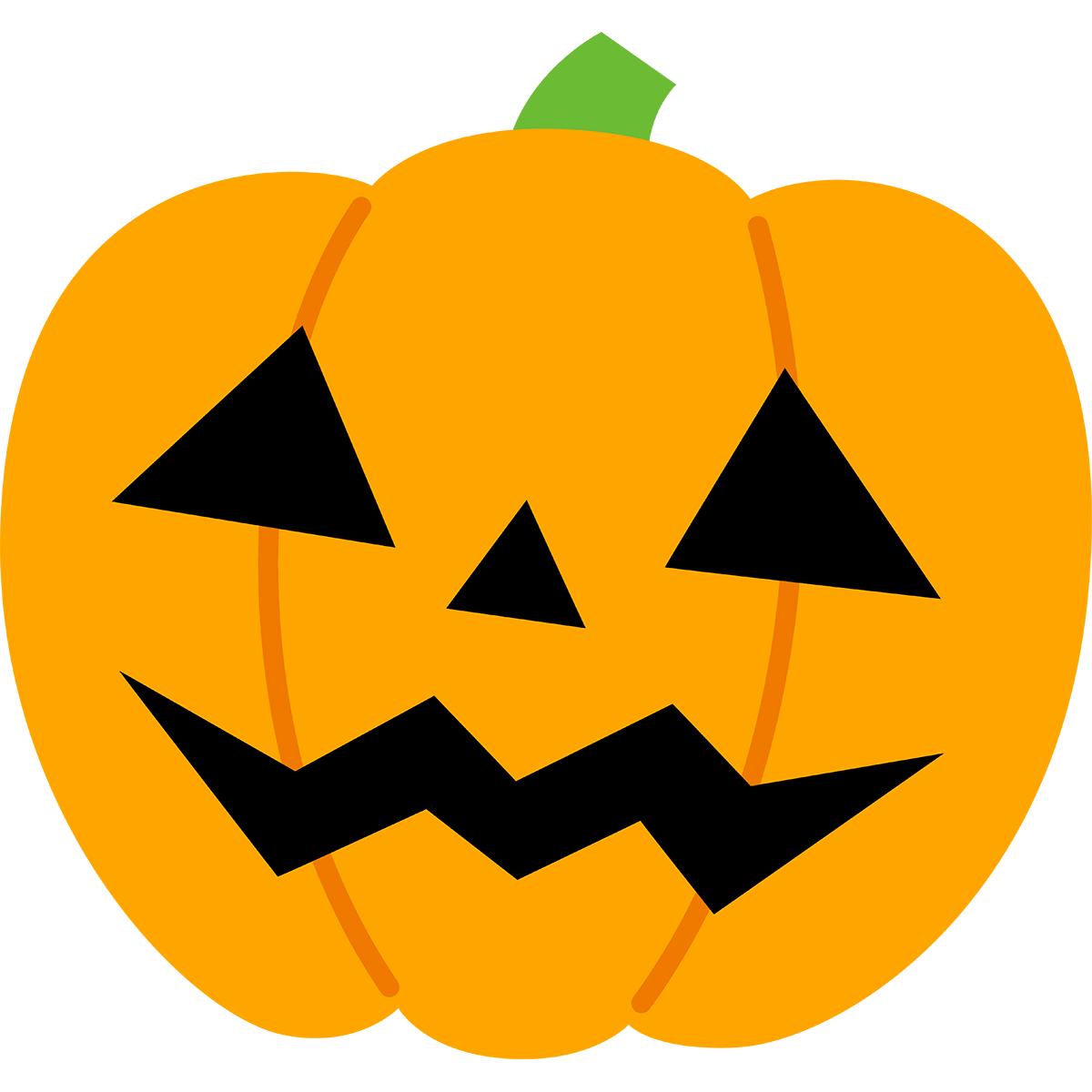 ハロウィンかぼちゃの無料イラスト
