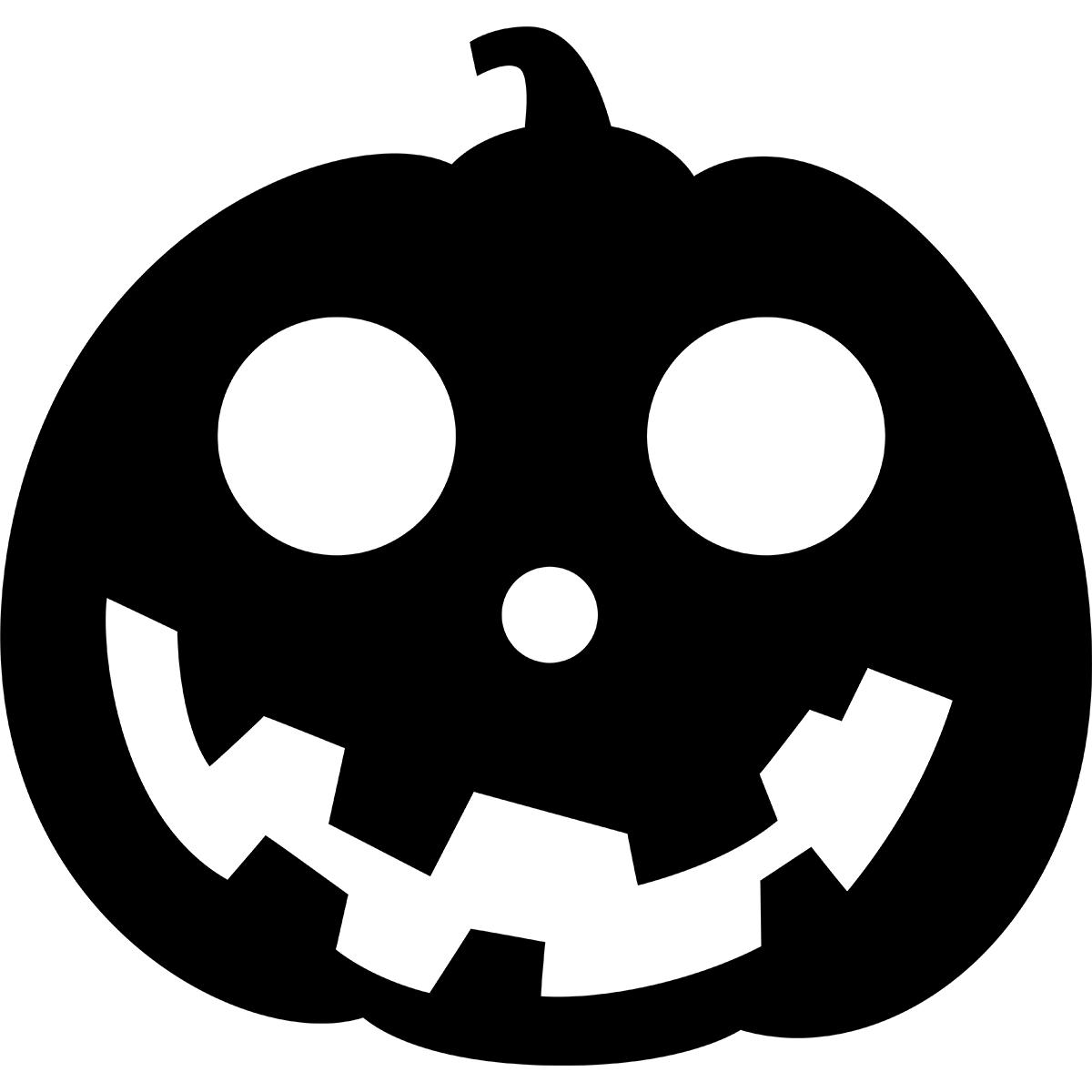 ハロウィンかぼちゃ(シルエット/丸型)の無料イラスト