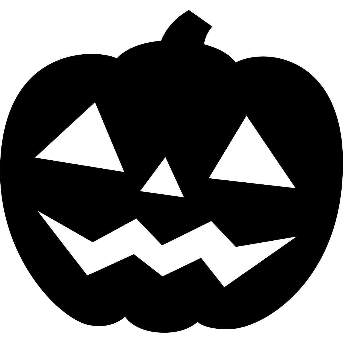 ハロウィンかぼちゃ(シルエット)の無料イラスト