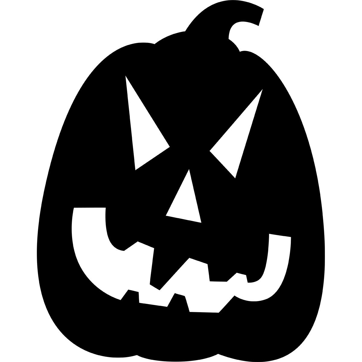 ハロウィンかぼちゃ(シルエット/細型) | 無料イラスト&かわいいフリー素材集 ねこ画伯コハクちゃん
