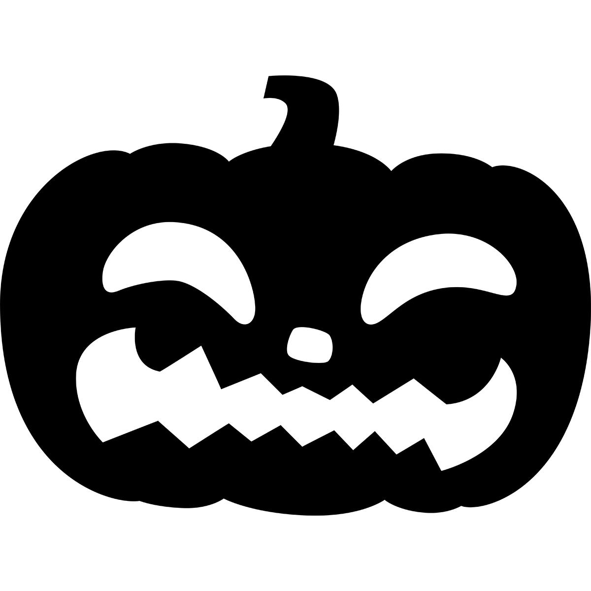 ハロウィンかぼちゃ(シルエット/平たい)の無料イラスト