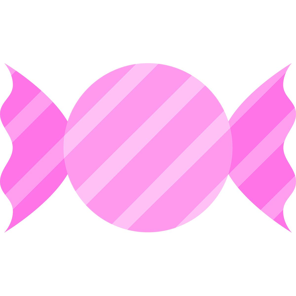 ピンクのキャンディの無料イラスト