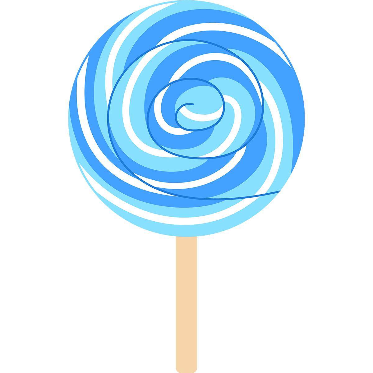 渦巻キャンディの無料イラスト