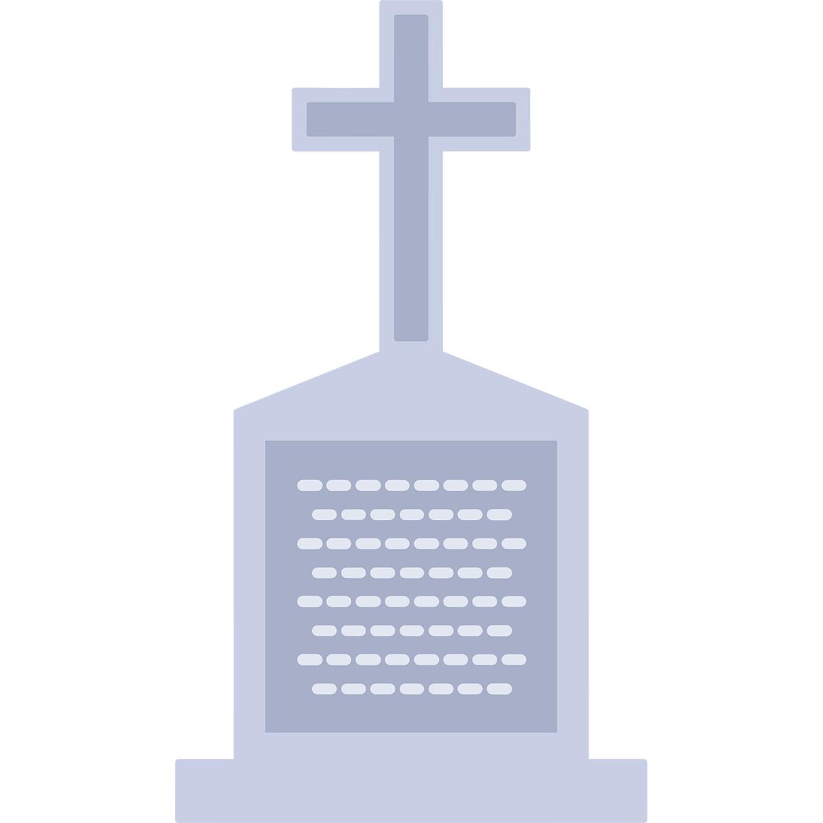 ハロウィンのお墓の無料イラスト