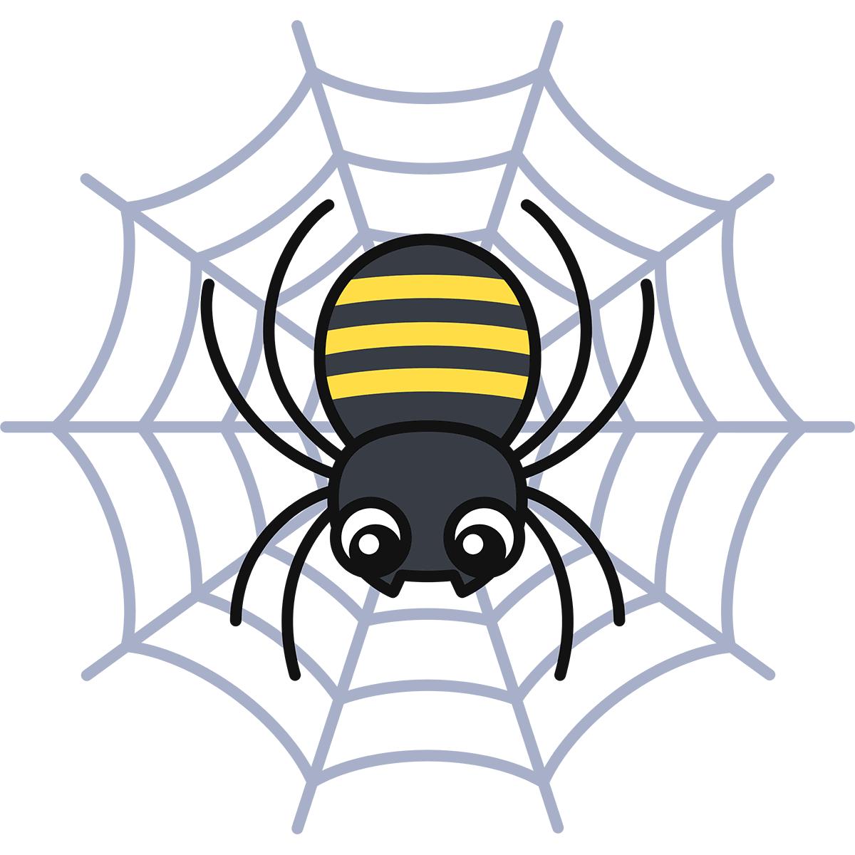 クモの無料イラスト