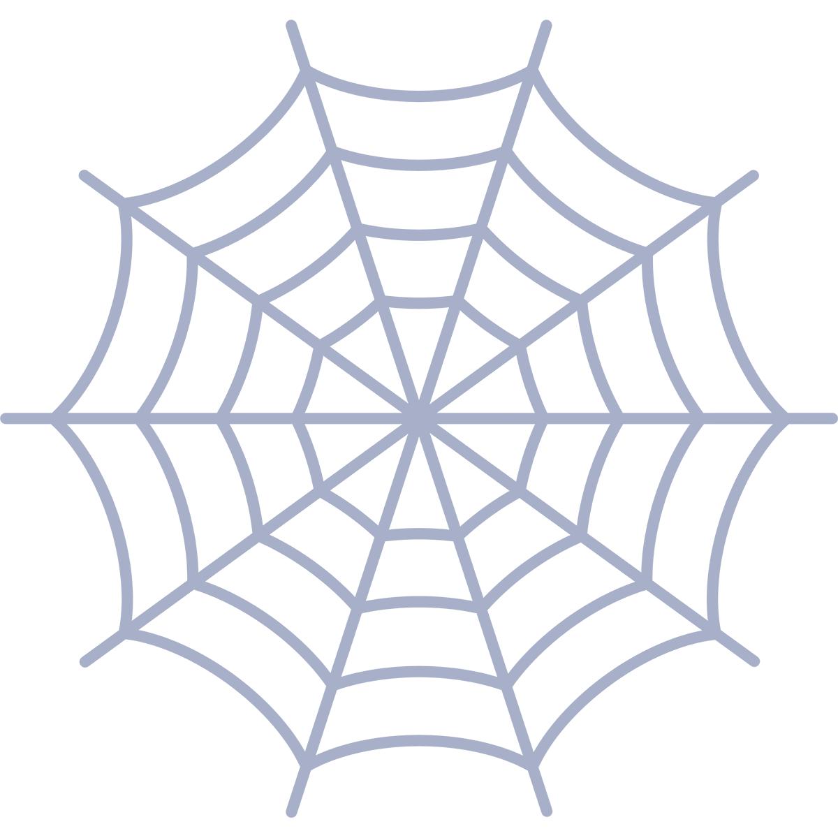 クモの巣の無料イラスト