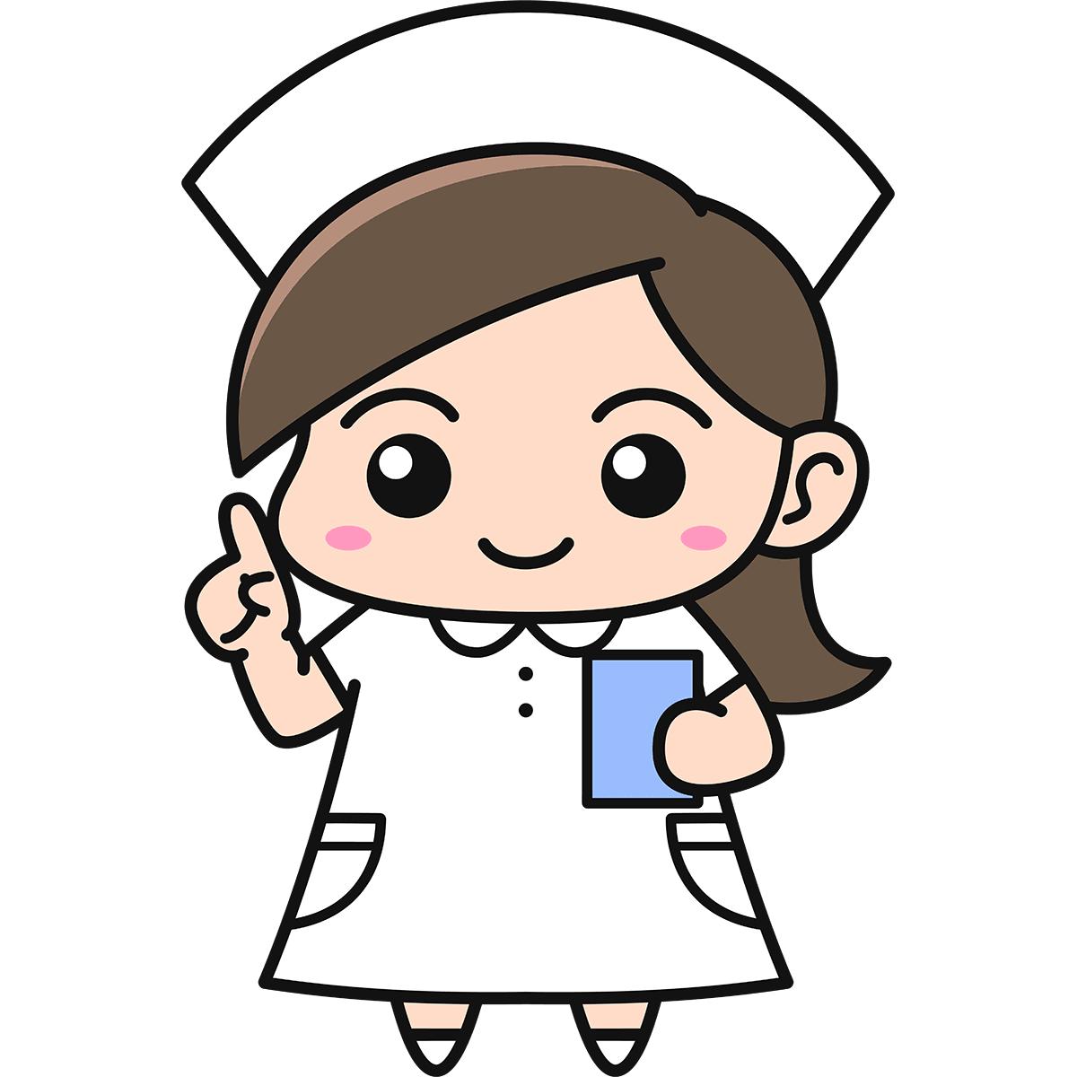女性看護師(説明)の無料イラスト