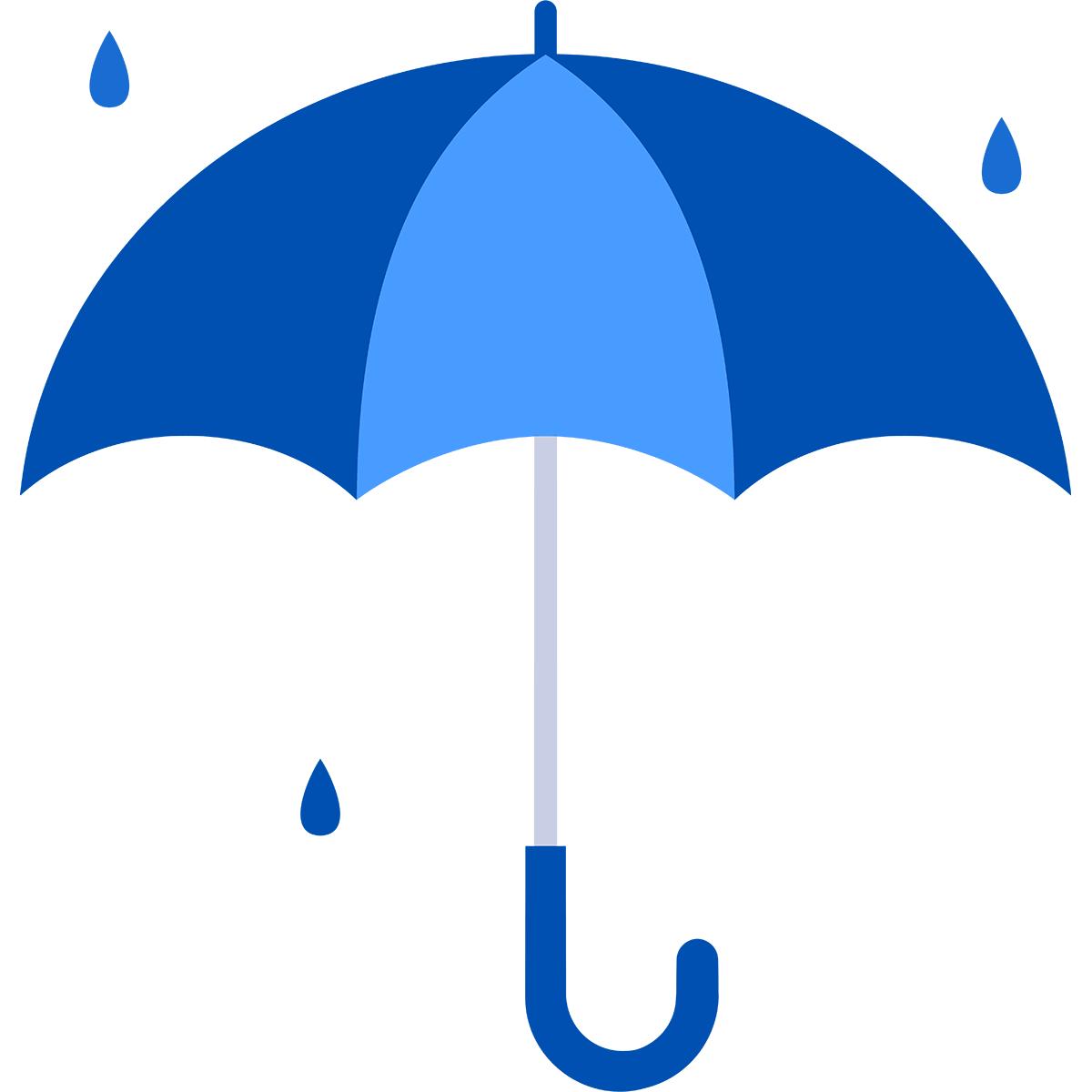 雨と傘の無料イラスト
