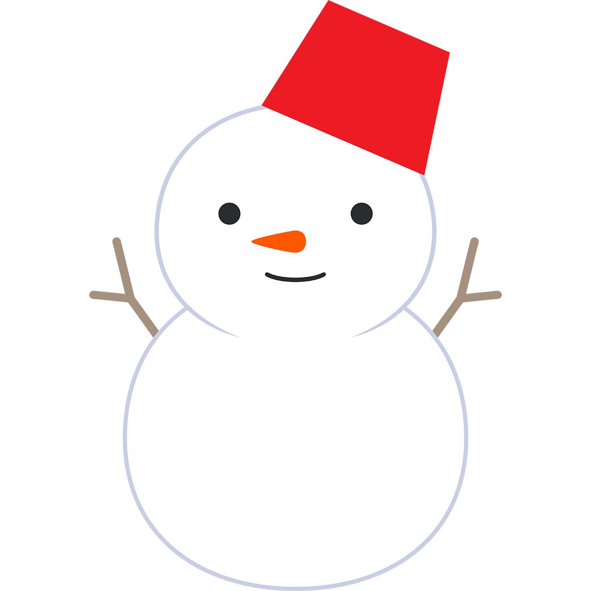 雪だるまの無料イラスト