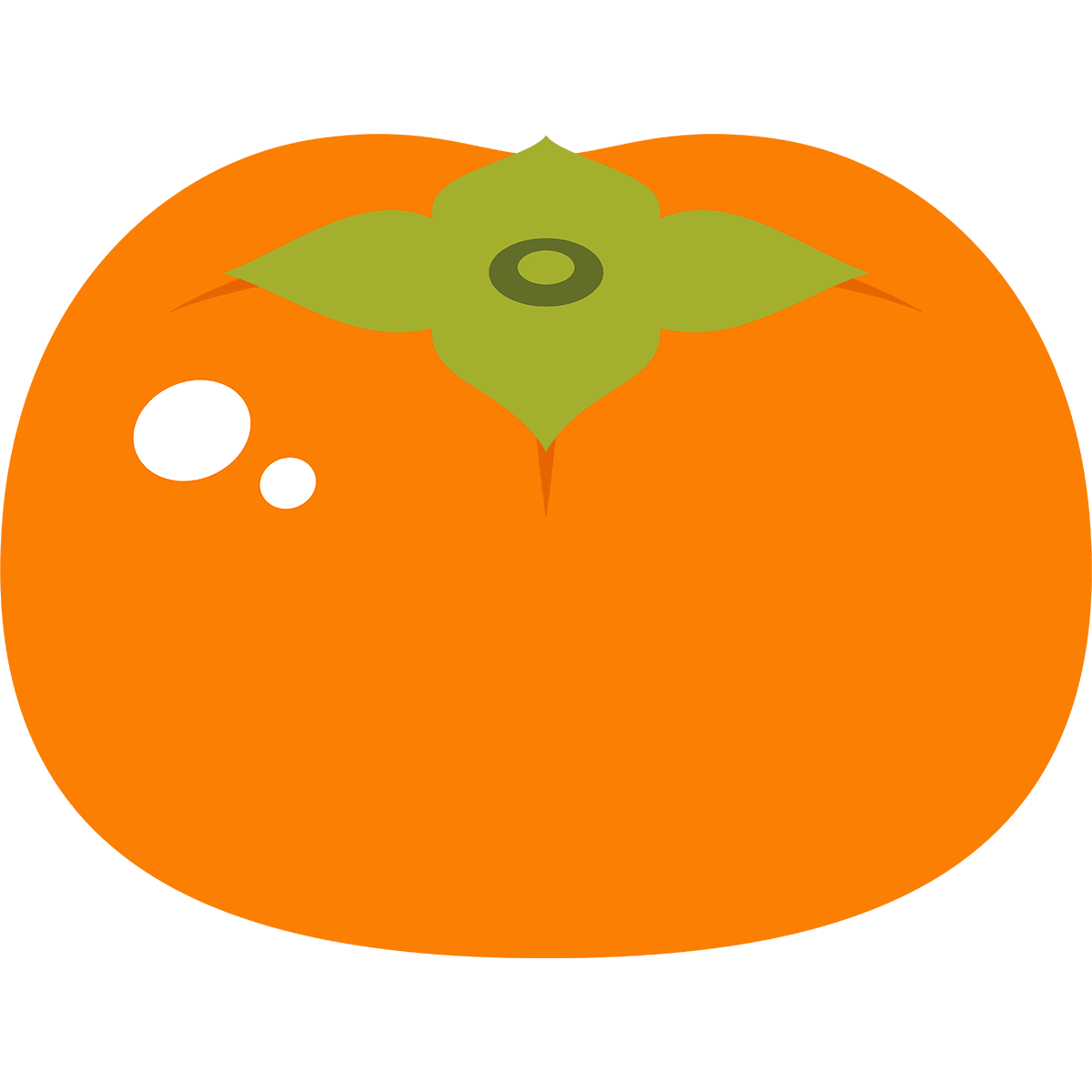 柿の無料イラスト