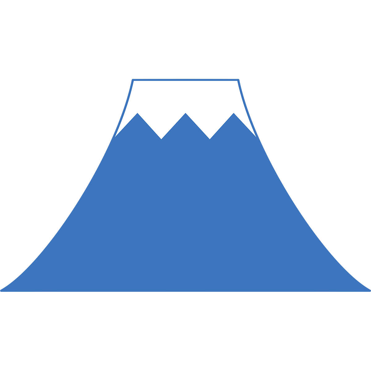 富士山の無料イラスト