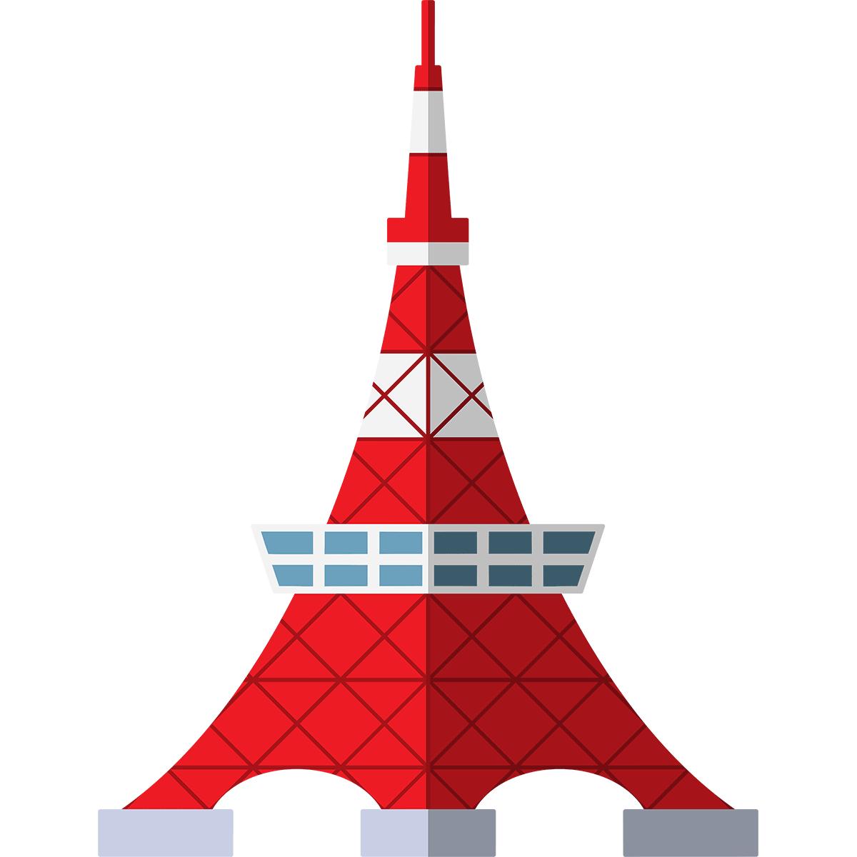 東京タワーの無料イラスト