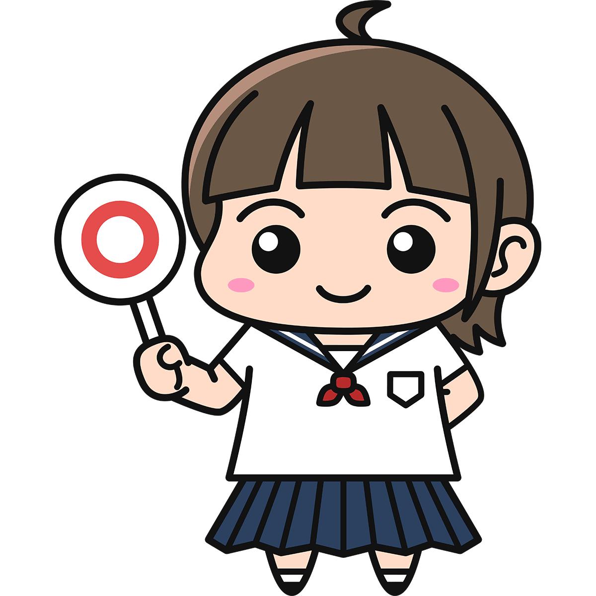 女子高生(正解)の無料イラスト