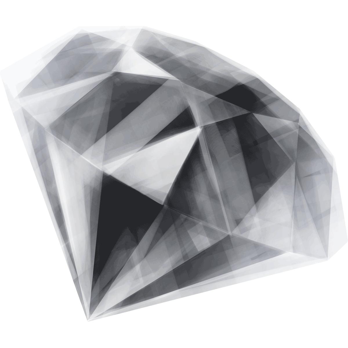 【手描き/宝石】ダイヤモンドの無料イラスト