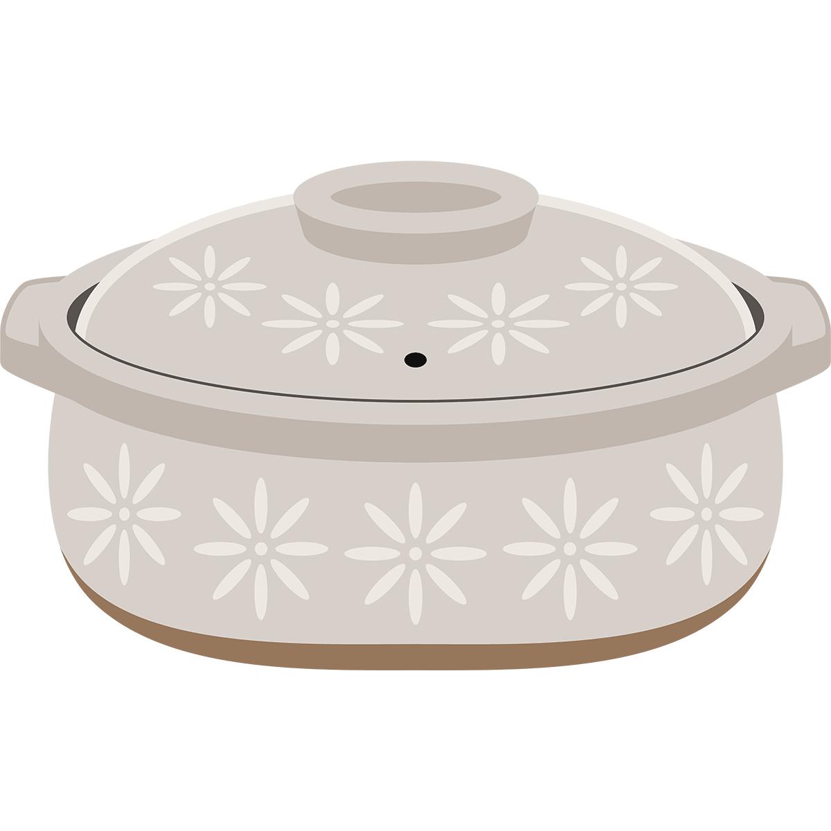 土鍋の無料イラスト