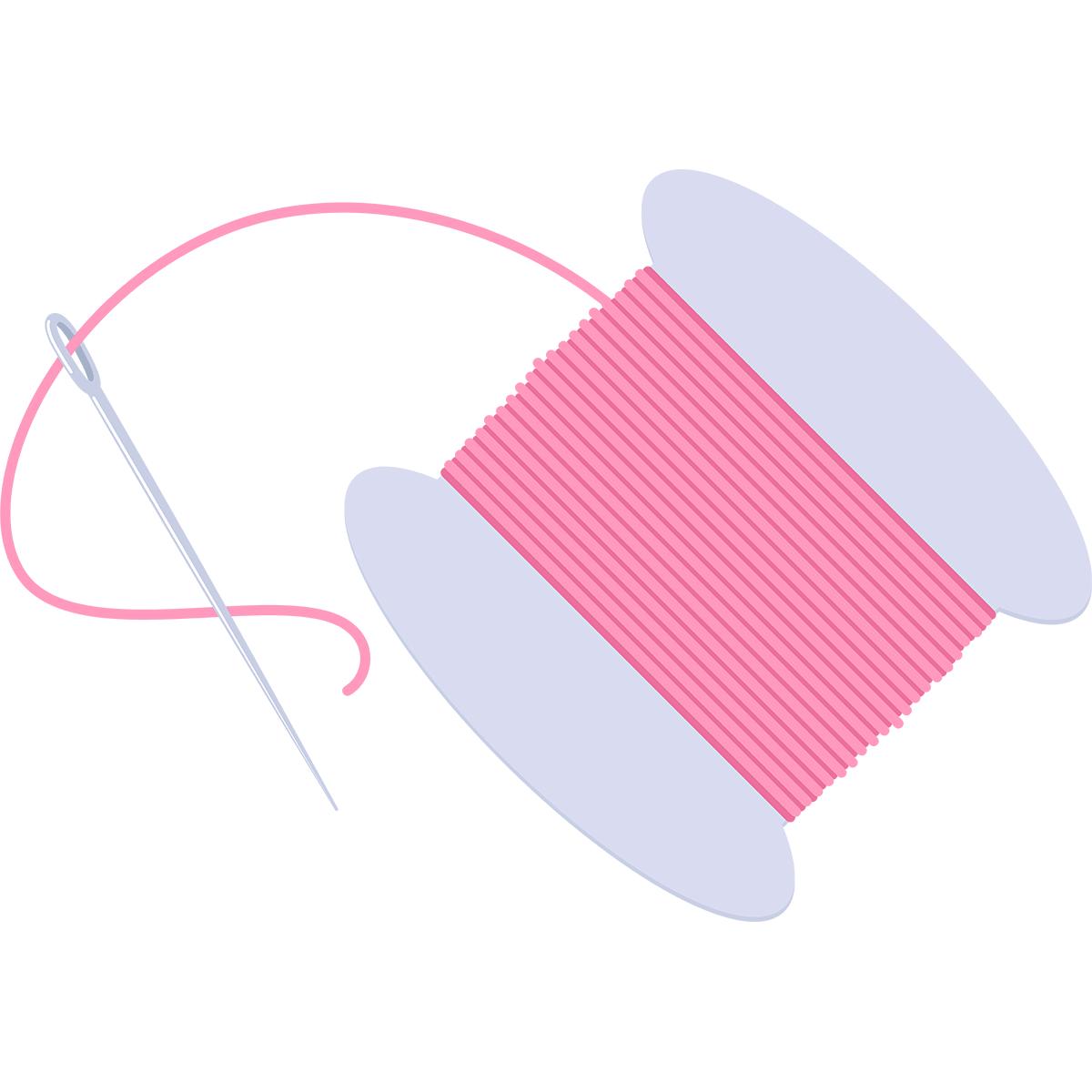 針と糸の無料イラスト