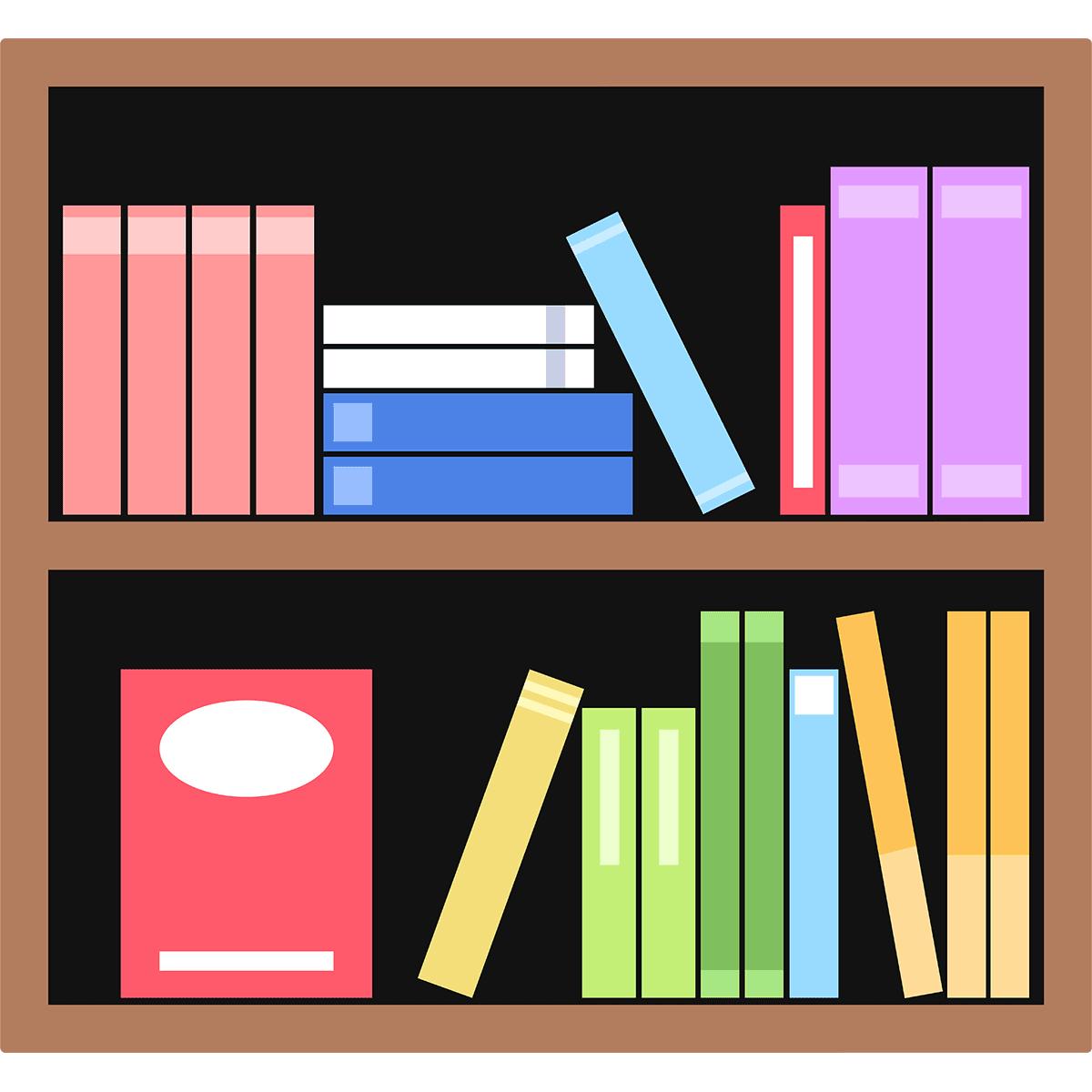 本棚の無料イラスト