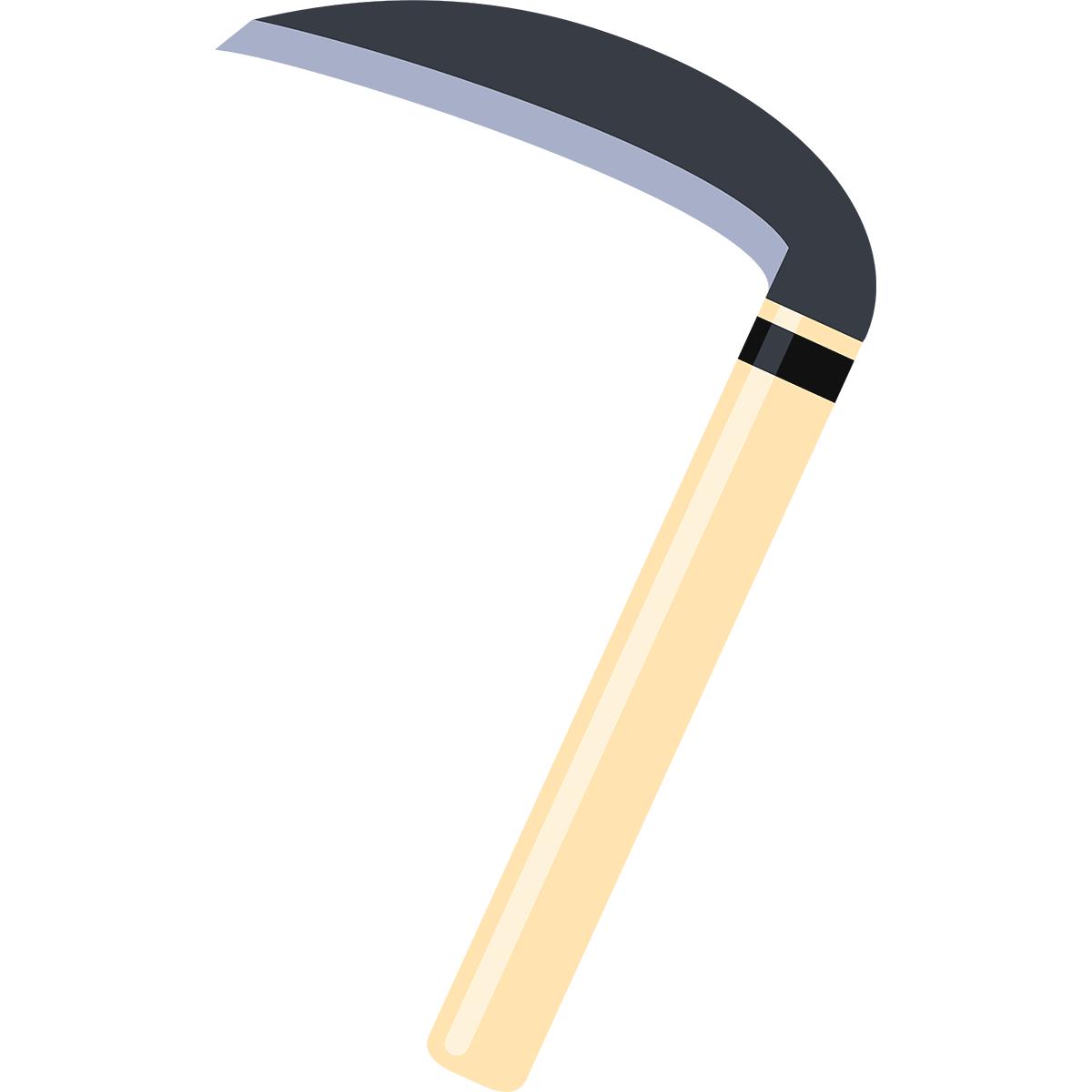 鎌(かま)の無料イラスト