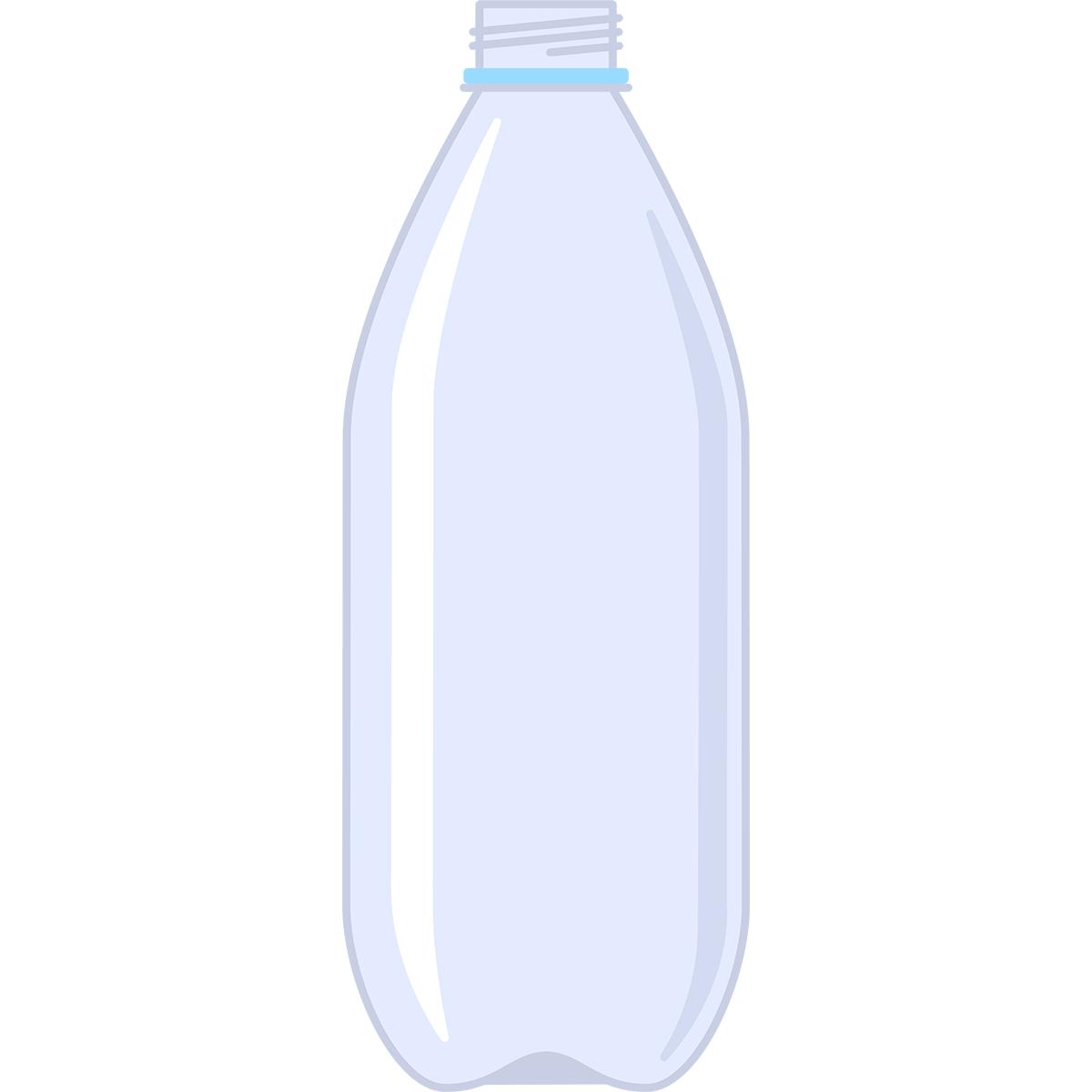 空のペットボトルの無料イラスト