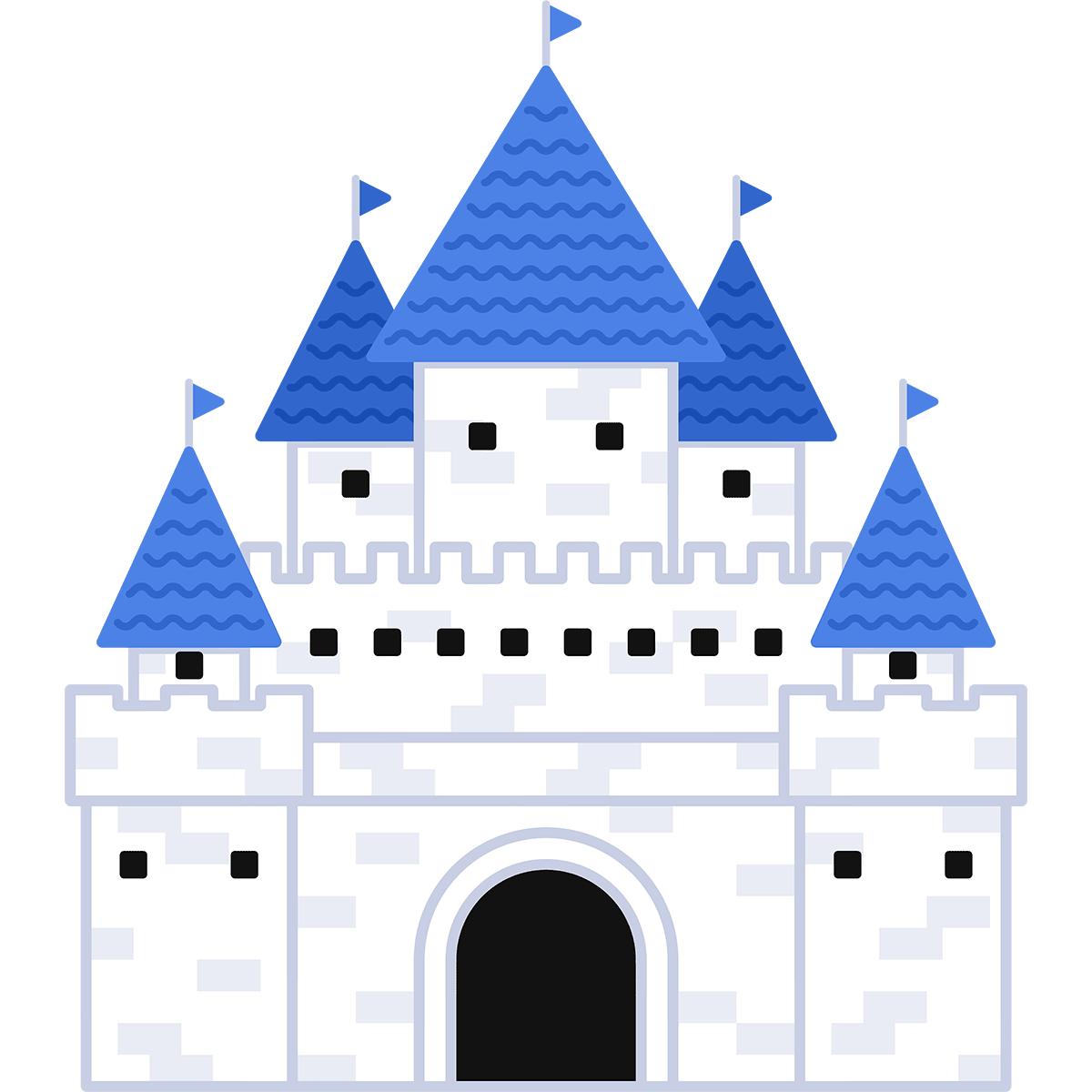 西洋のお城の無料イラスト