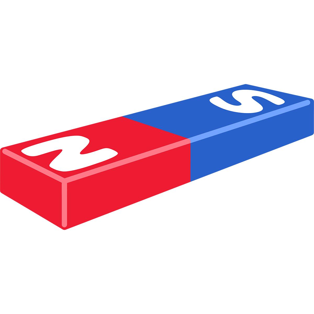棒磁石の無料イラスト