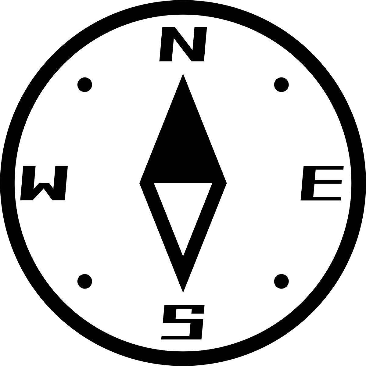 【アイコン】方位磁石(方角)の無料イラスト