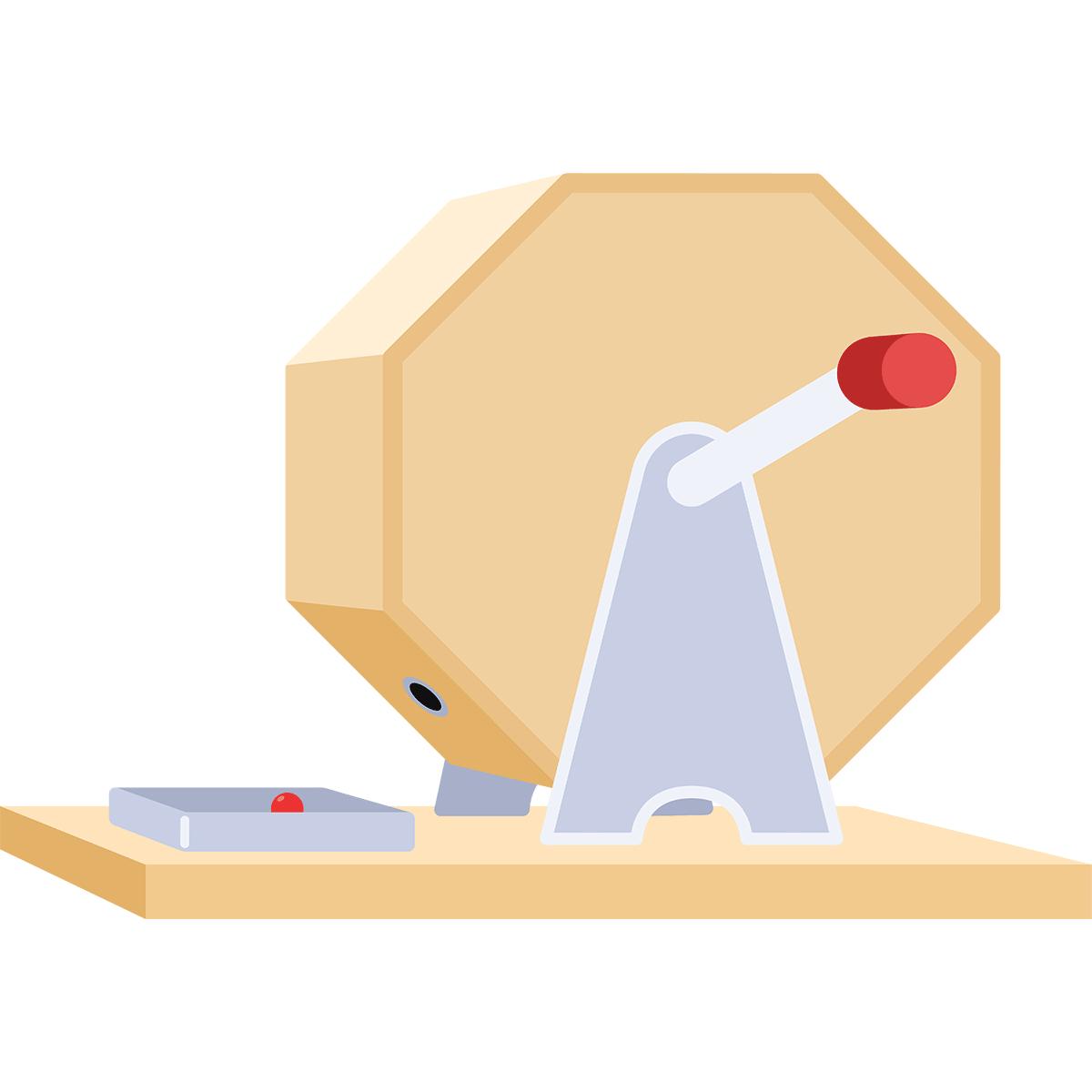 ガラガラ抽選器の無料イラスト
