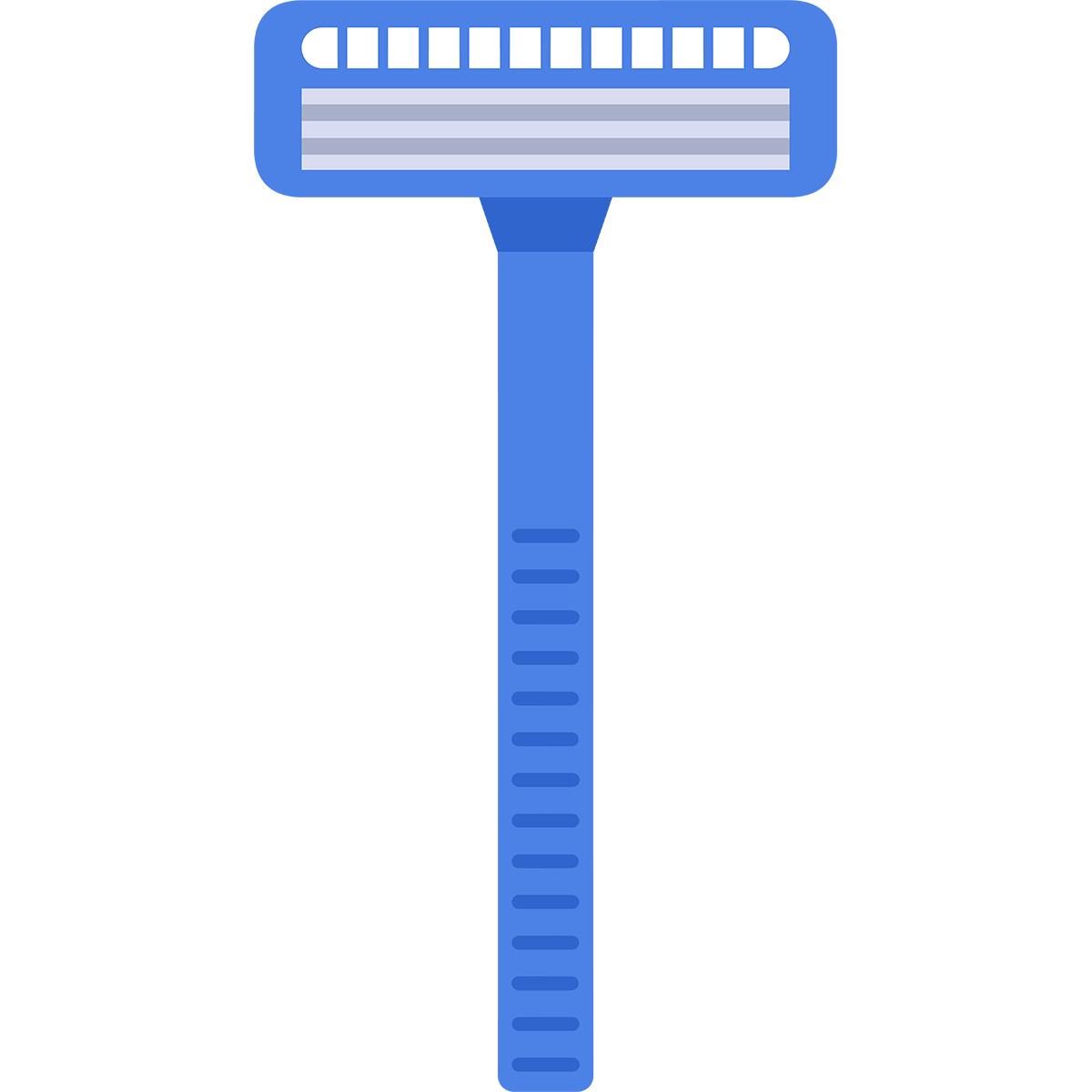 髭剃りの無料イラスト