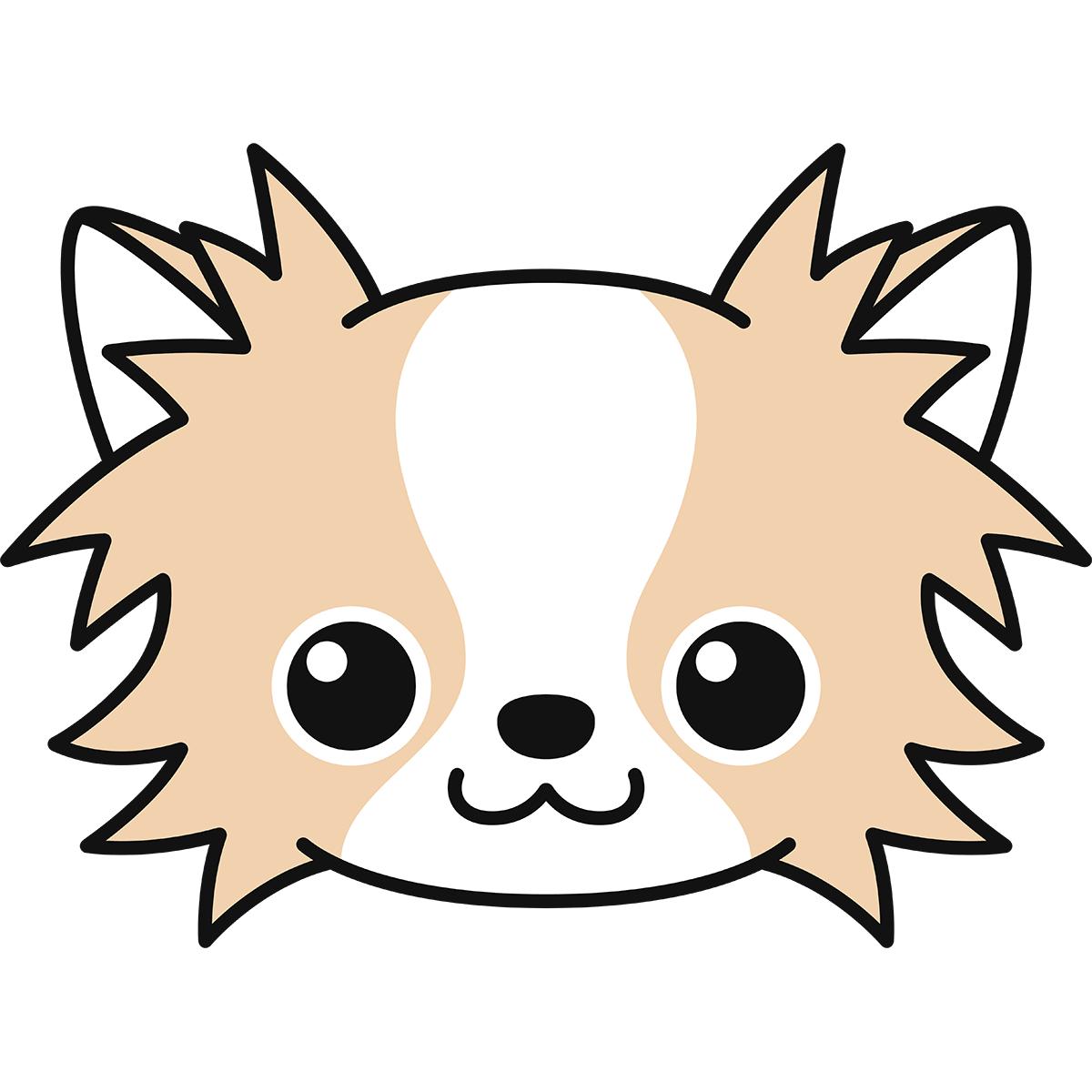 チワワの顔(茶色)の無料イラスト