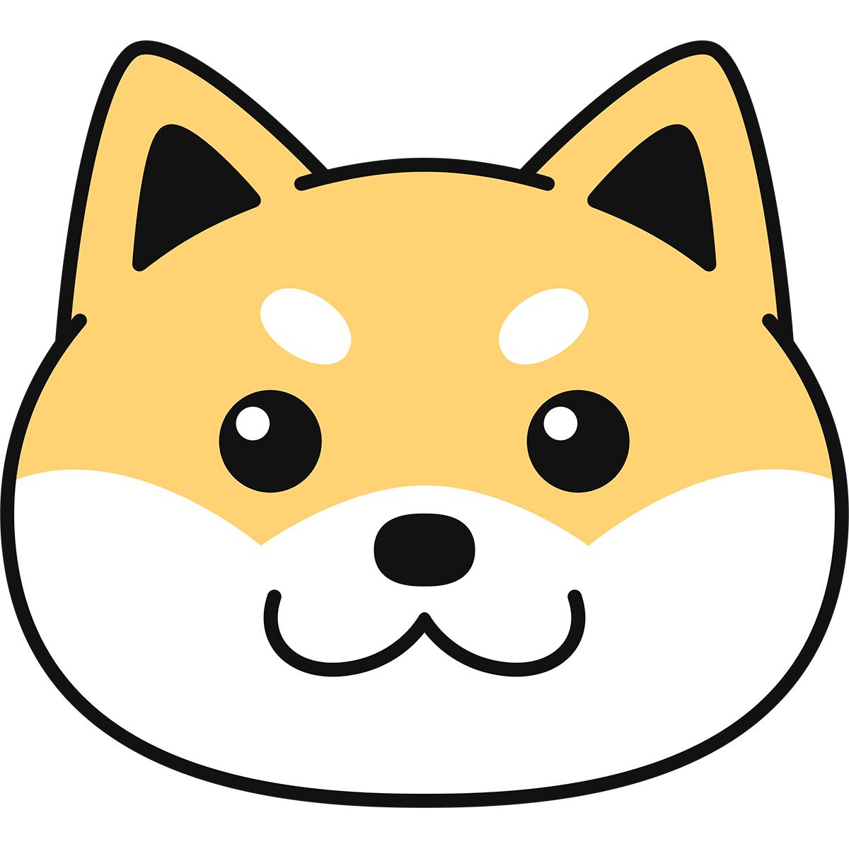 柴犬の顔の無料イラスト