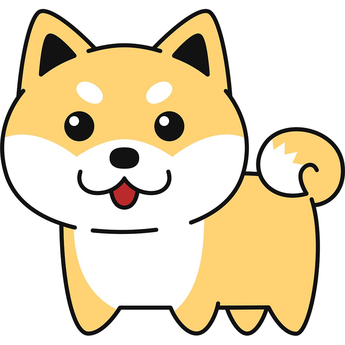 柴犬の無料イラスト