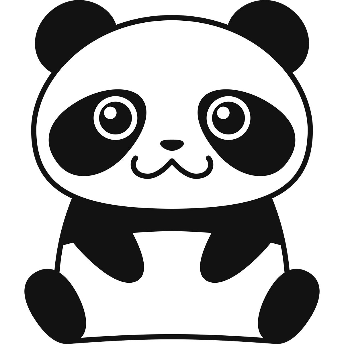 パンダの無料イラスト