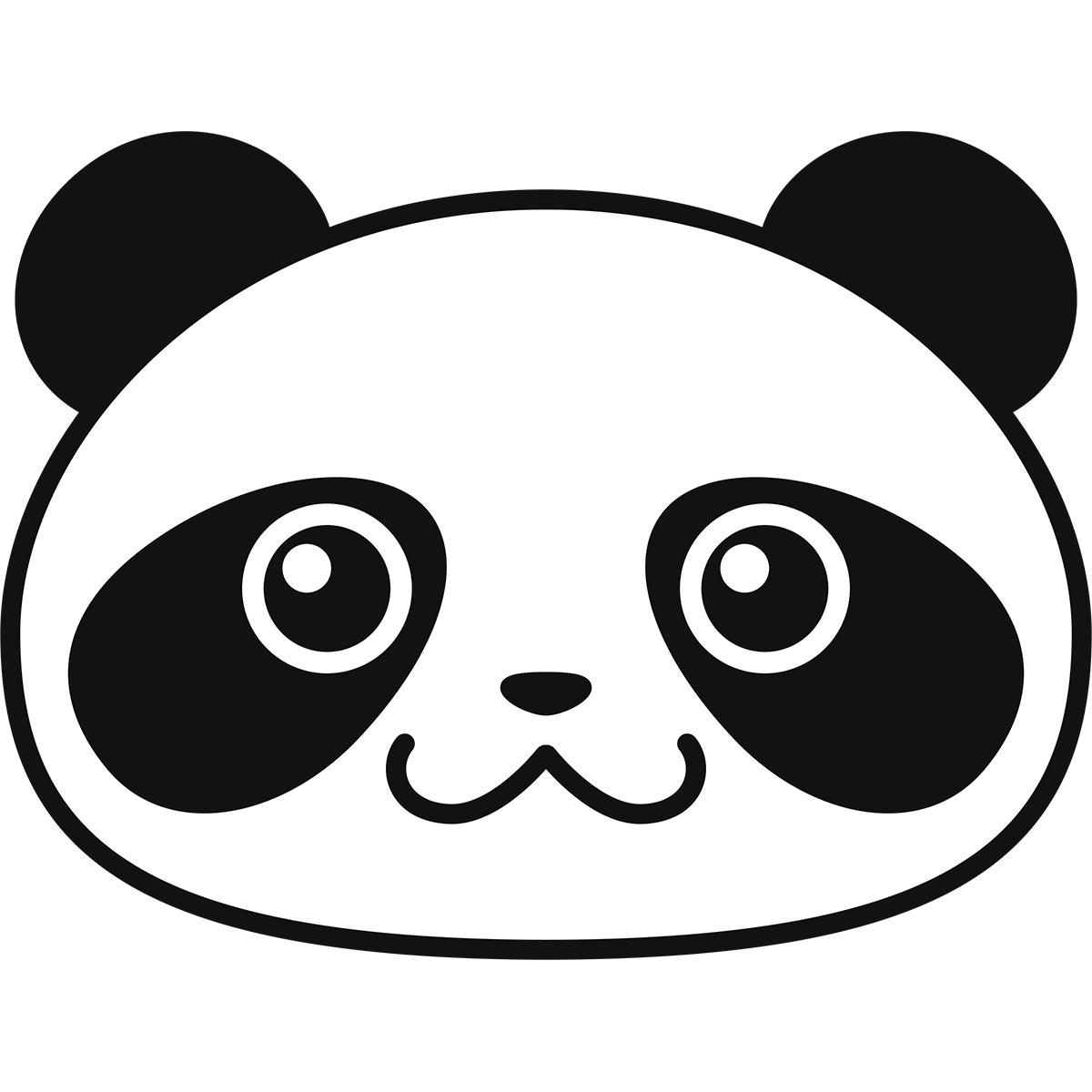 パンダの顔の無料イラスト
