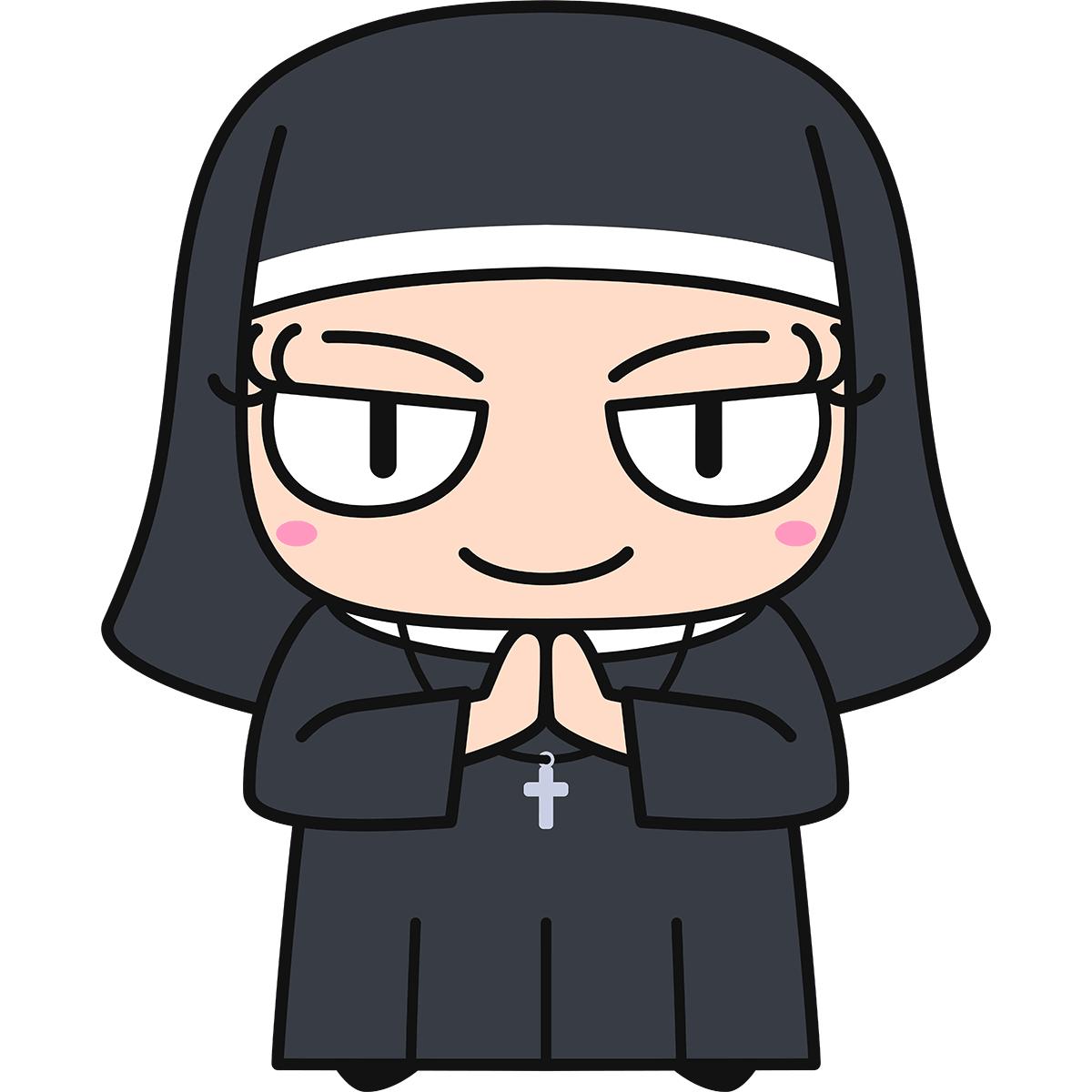 シスター・修道女の無料イラスト