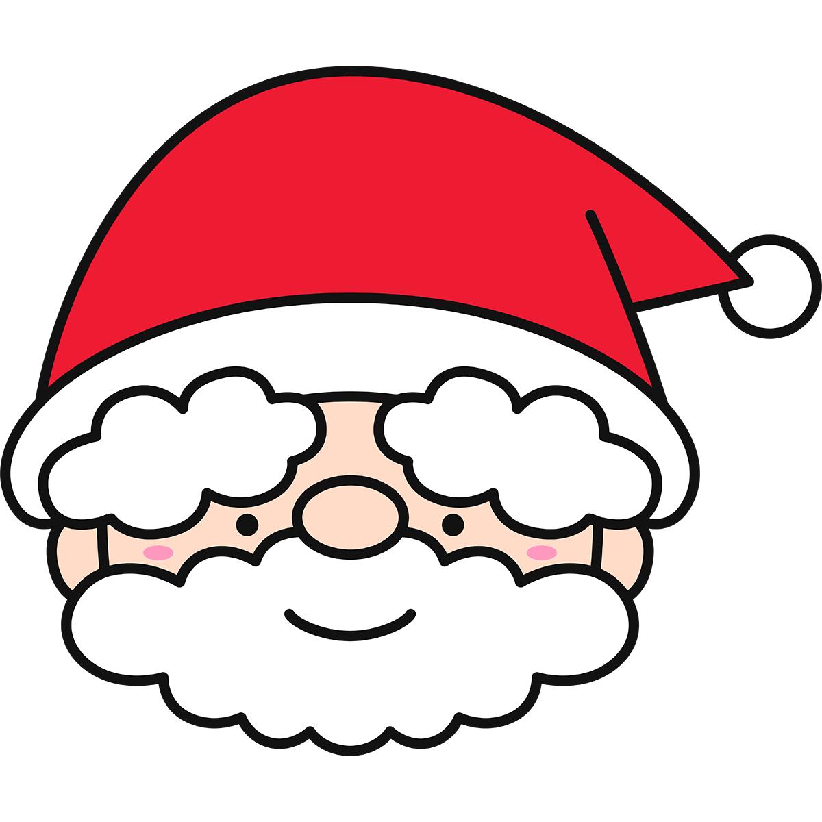 サンタクロースの顔の無料イラスト