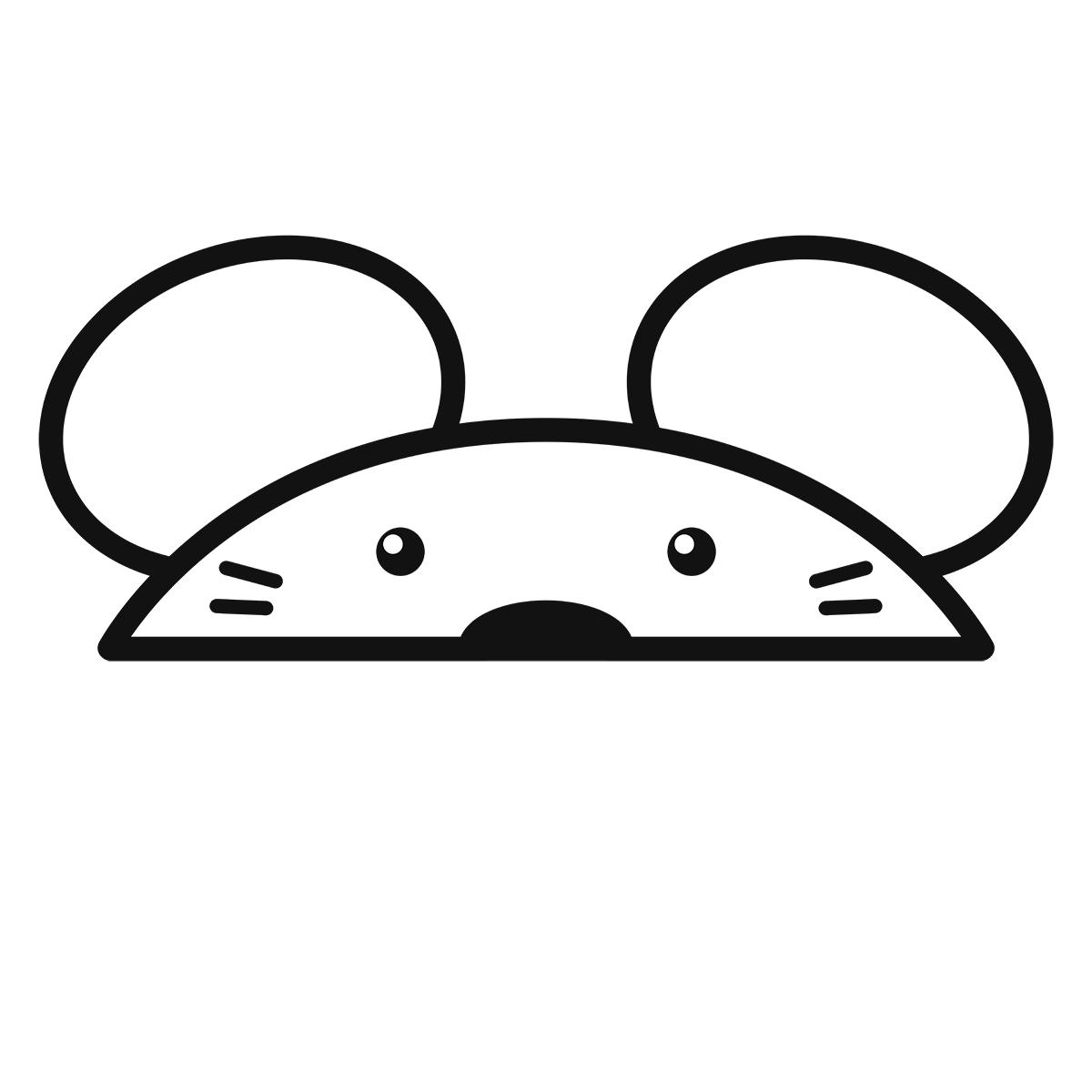 干支:ネズミ・鼠・子(1)の無料イラスト