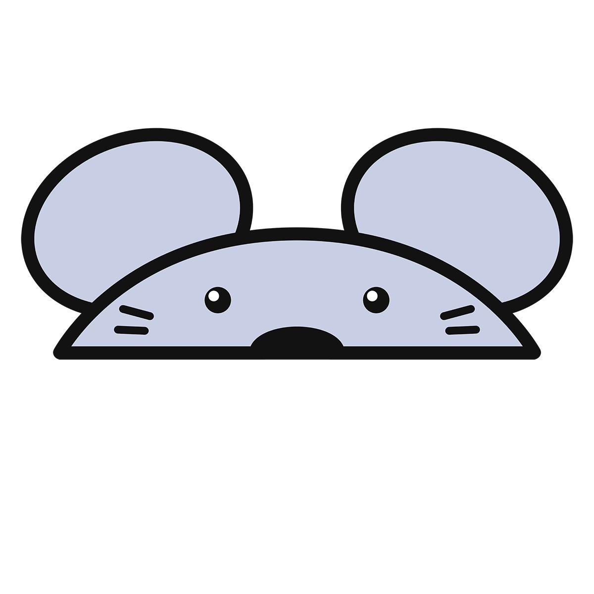 干支:ネズミ・鼠・子(2)の無料イラスト