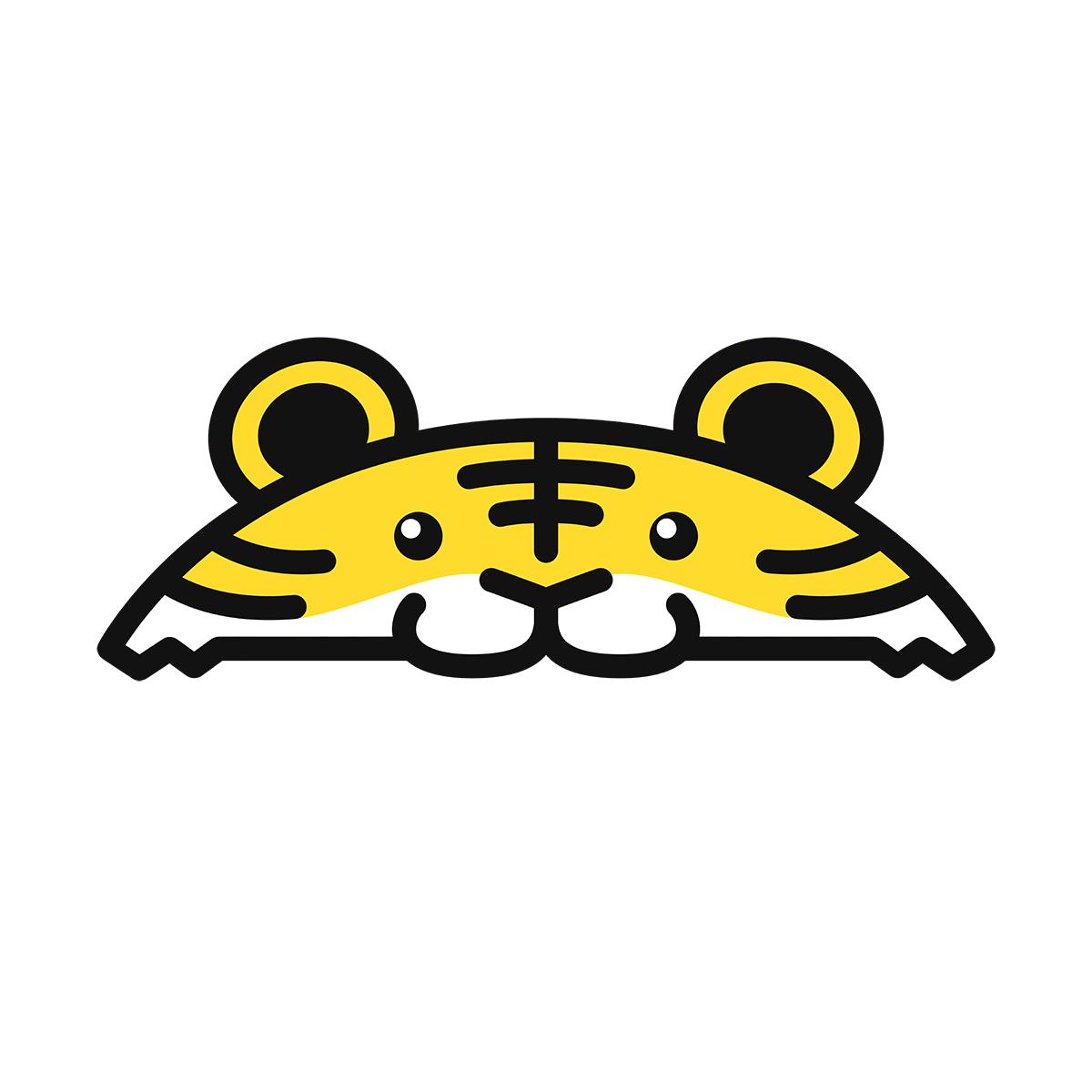 干支:トラ・虎・寅(2)の無料イラスト