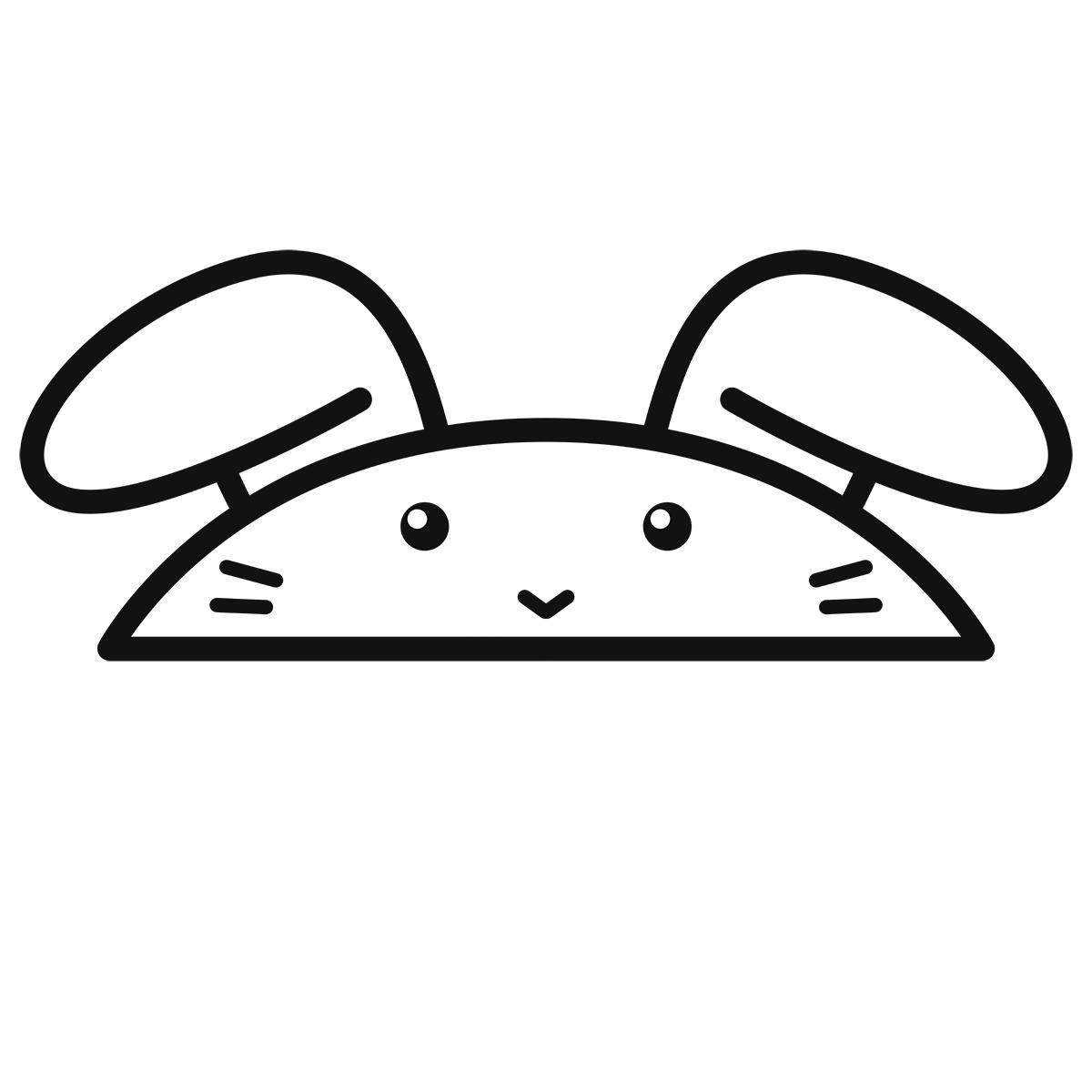 干支:ウサギ・卯(1)の無料イラスト