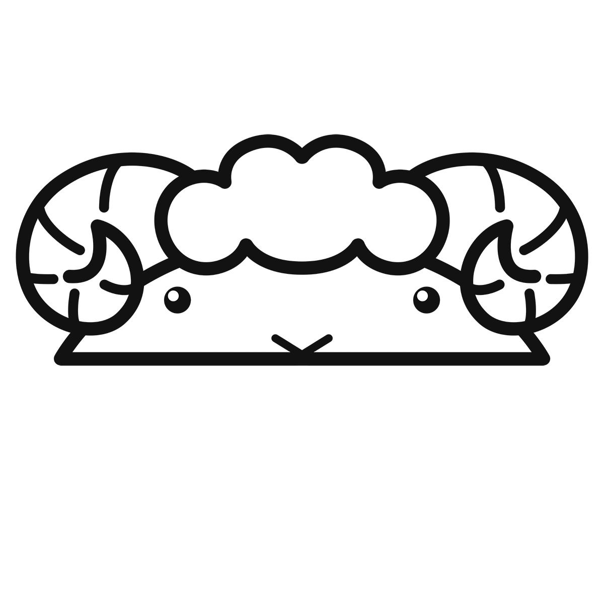 干支:ヒツジ・羊・未(1)の無料イラスト