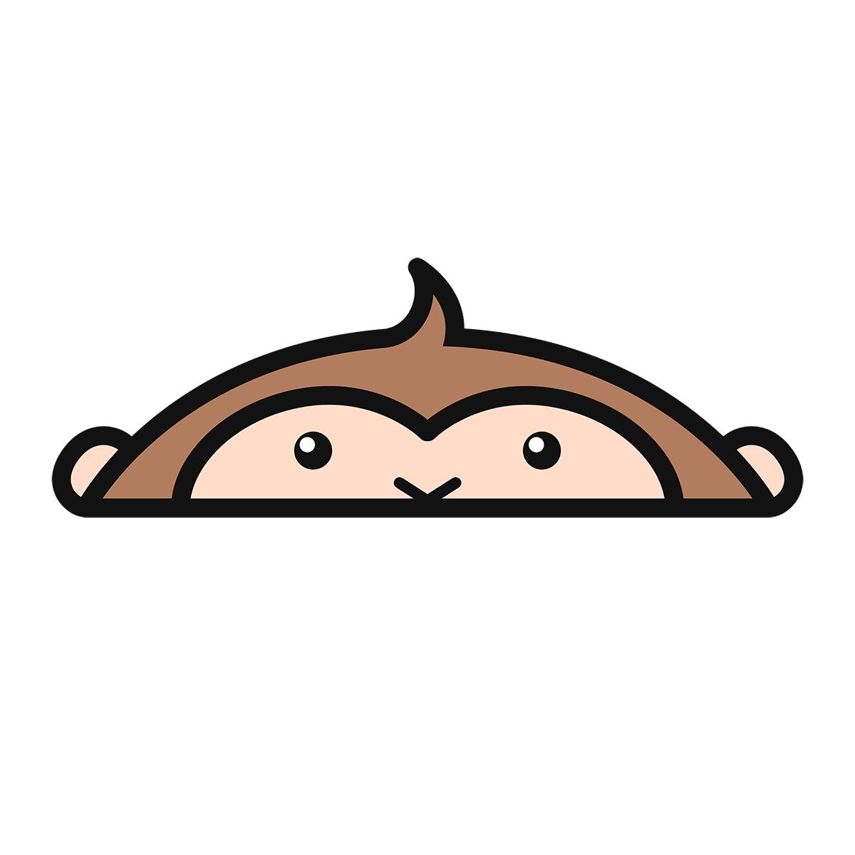 干支:サル・猿・申(2)の無料イラスト