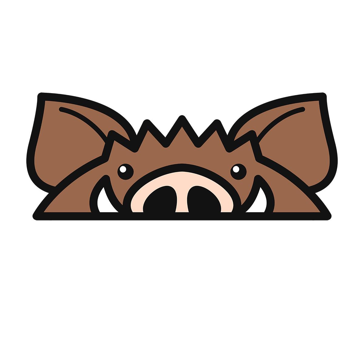 干支:イノシシ・猪・亥(2)の無料イラスト