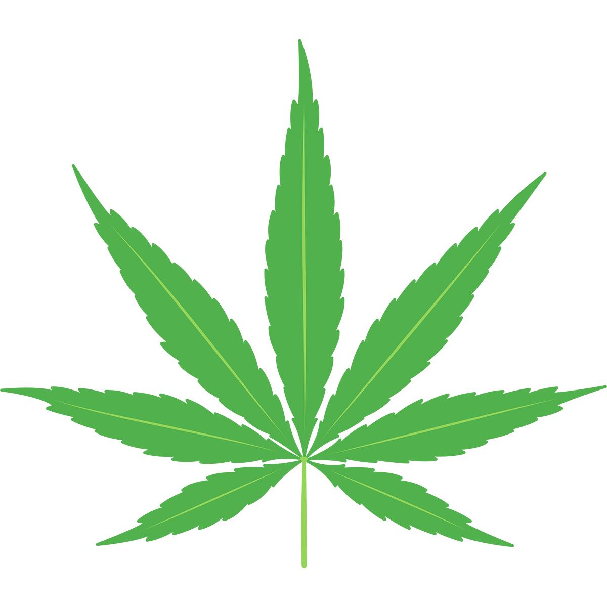 大麻の無料イラスト
