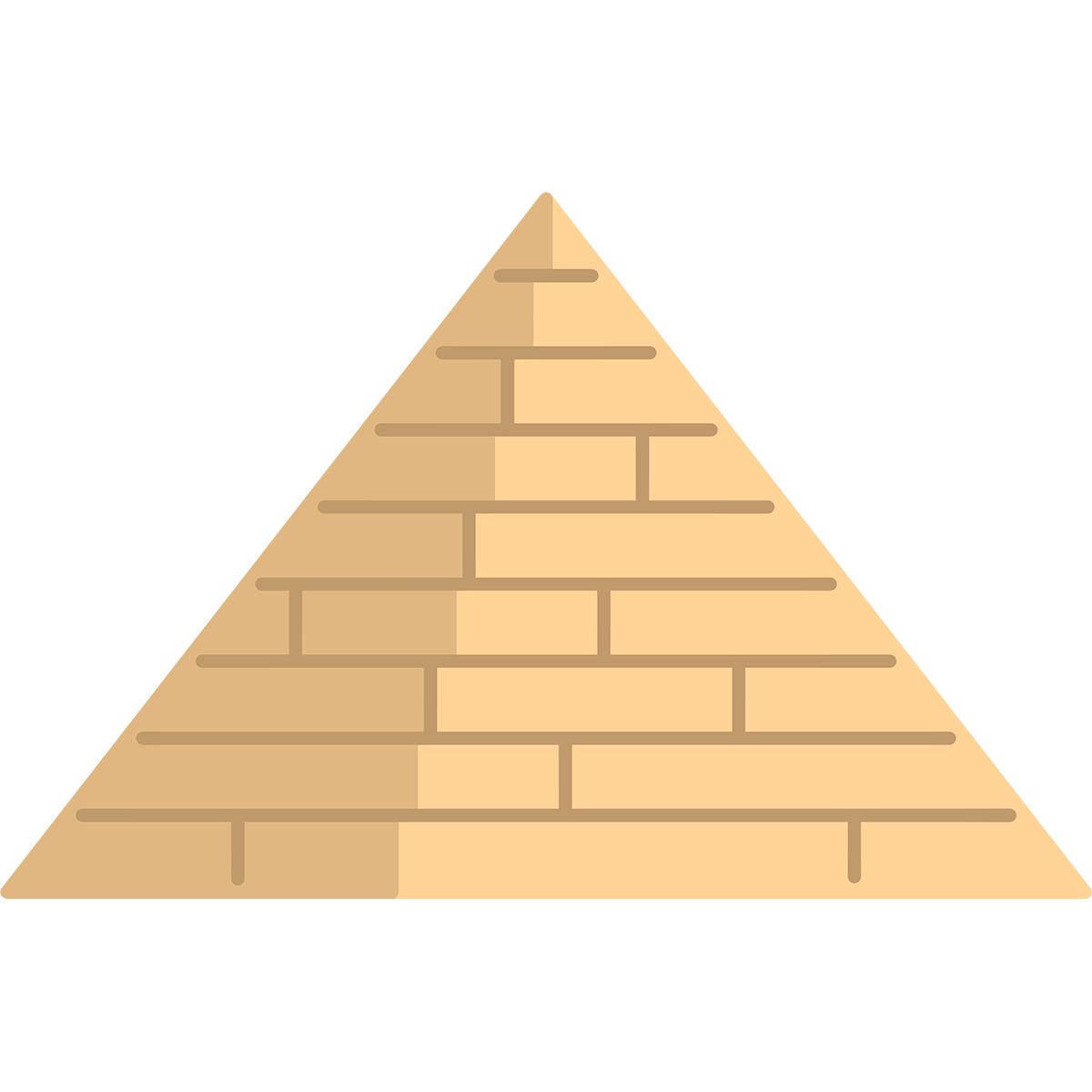 ピラミッドの無料イラスト
