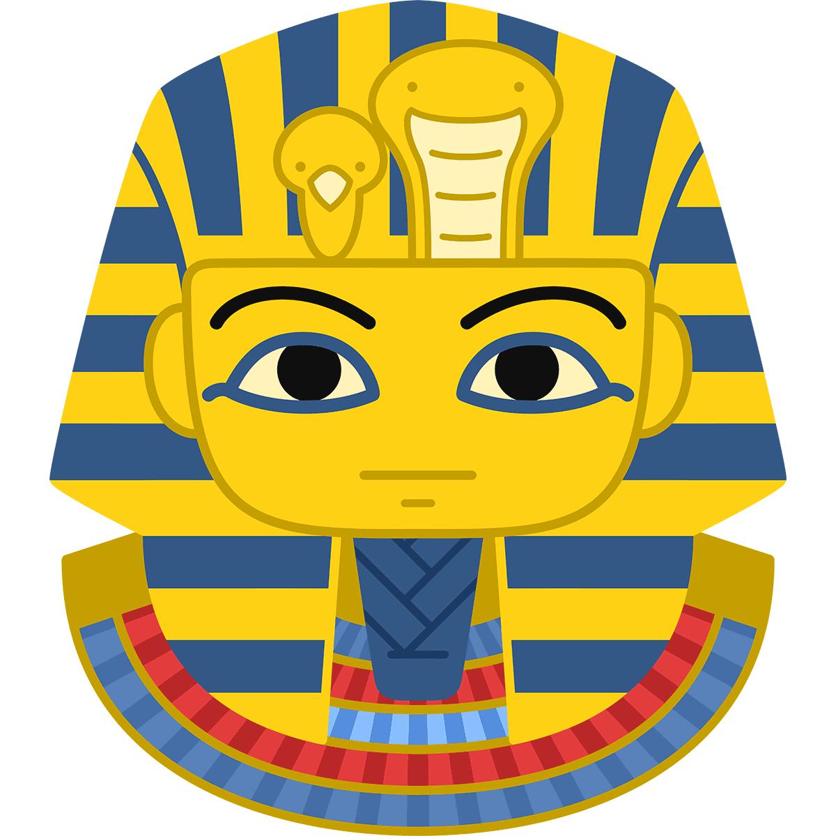 ツタンカーメンの黄金マスクの無料イラスト