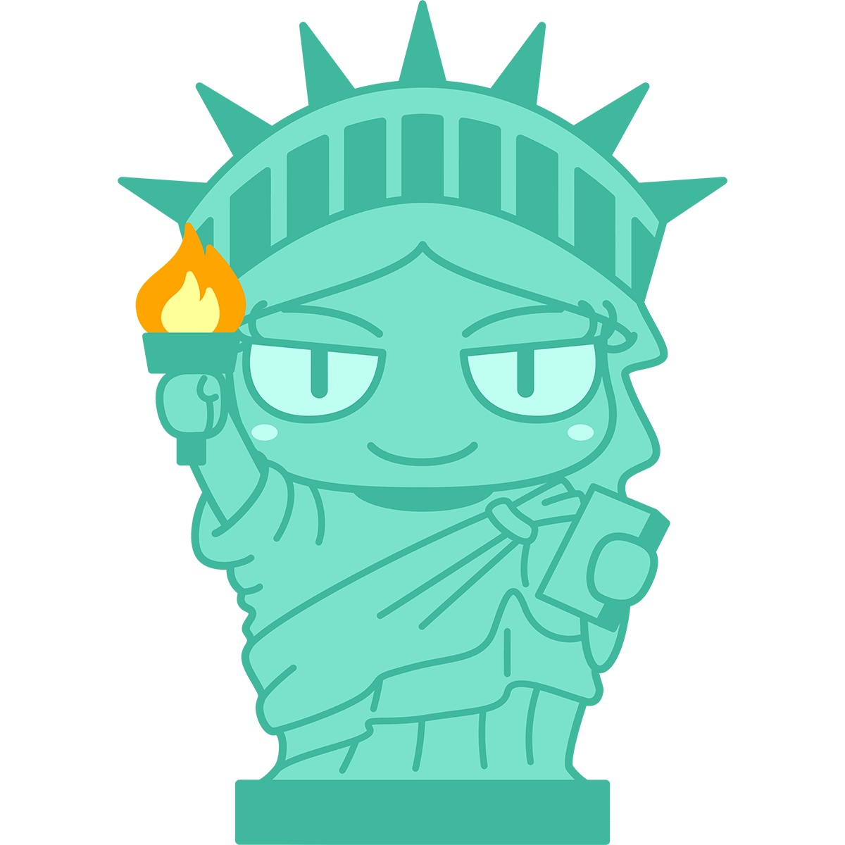 自由の女神の無料イラスト
