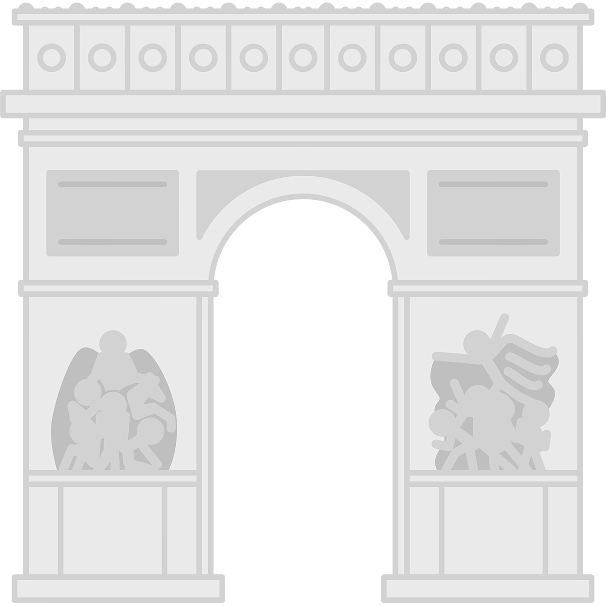 エトワール凱旋門の無料イラスト