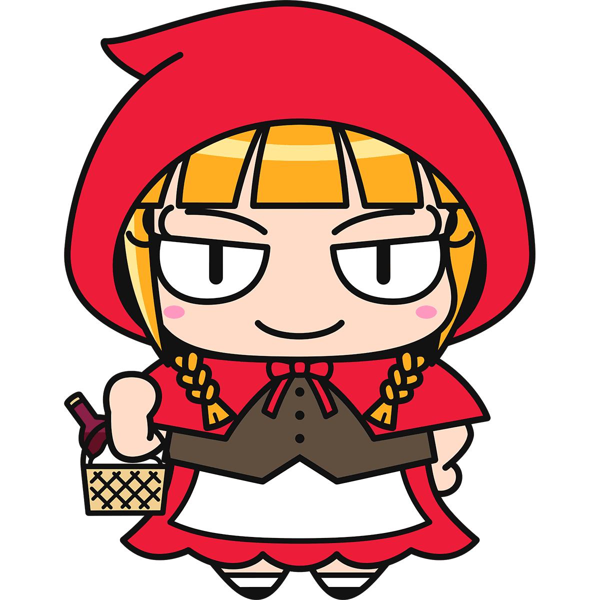 赤ずきんちゃんの無料イラスト